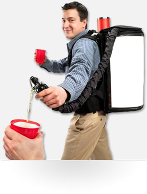 Carbonated Beverage Dispensing Backpack